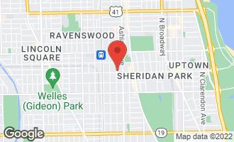 Map of 4601 North Paulina Street #408 CHICAGO, IL 60640