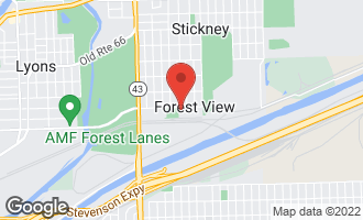Map of 4603 Clinton Avenue FOREST VIEW, IL 60402