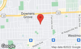 Map of 4605 Prospect Avenue DOWNERS GROVE, IL 60515