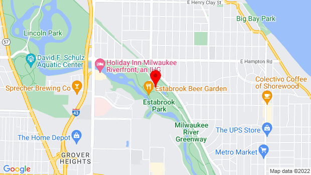Google Map of 4610 Estabrook Parkway, Milwaukee, WI 53217