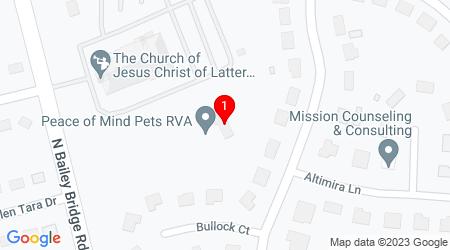 Google Map of 4611 N. Bailey Bridge Road Midlothian, VA, 23112