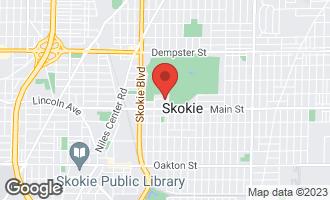 Map of 4615 Elm Terrace SKOKIE, IL 60076