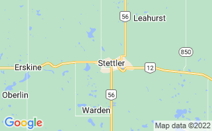 Map of Stettler Lions Campground