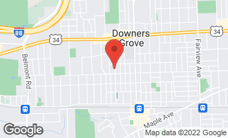 Map of 4624 Linscott Avenue DOWNERS GROVE, IL 60515