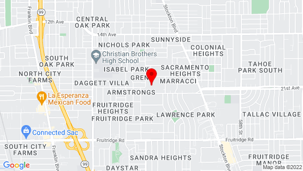 Google Map of 4625 44th St., Sacramento, CA 95820
