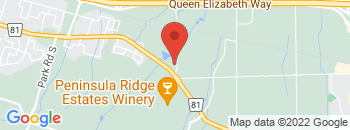 Google Map of 4630+Durham+Road%2CBeamsville%2COntario+L0R+1B0