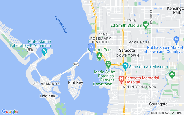 464 Golden Gate Pt #601 Sarasota Florida 34236 locatior map