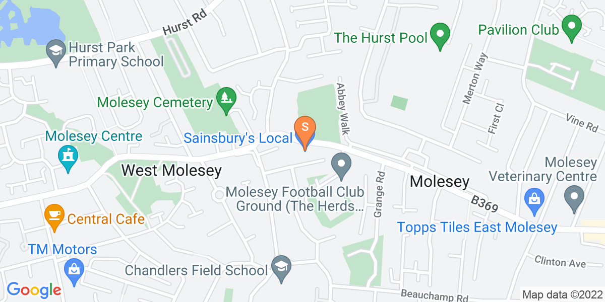 Google Map of 464 Walton Road West Molesey KT8 2JG