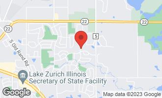 Map of 465 Thistle Lane LAKE ZURICH, IL 60047