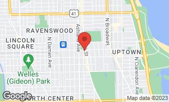 Map of 4651 North Greenview Avenue #410 CHICAGO, IL 60640