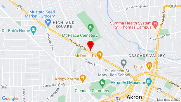 Google Map of 467 W Market St., Akron, OH 44303