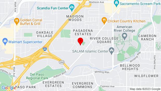 Google Map of 4675 Aldona Lane, Sacramento, CA 95841