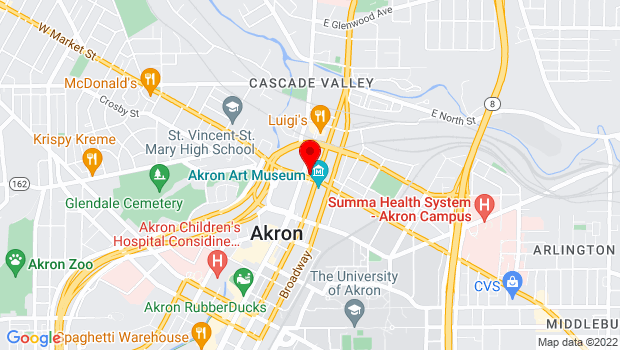 Google Map of 47 East Market Street, Akron, OH 44308