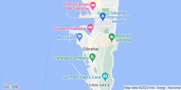 Google Map of 47+Irish+Town%2C+Gibraltar