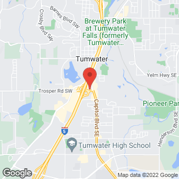 Map of Taco Bell at 182 Trosper Rd SW, Tumwater, WA 98501