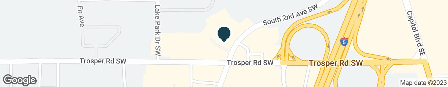 Google Map of702 TROSPER RD SW