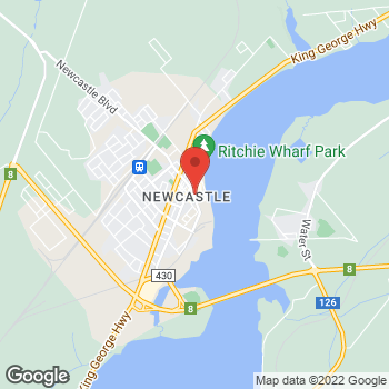 Map of Tim Hortons at 122 Newcastle Blvd, Miramichi, NB E1V 2L7