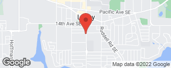Map of 1601 College St SE in Lacey