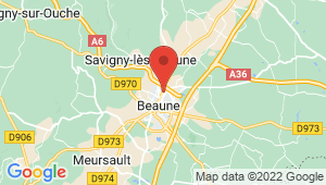 Carte de localisation du centre de contrôle technique BEAUNE