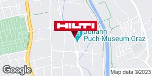 Wegbeschreibung zu Hilti Store Graz