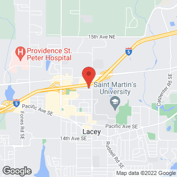 Map of Willamette Dental Group - Olympia at 4550 3rd Avenue SE, Lacey, WA 98503