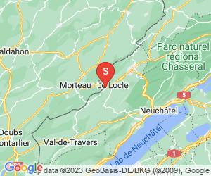 Karte für Moulins Souterrains du Col-des-Roches au Locle
