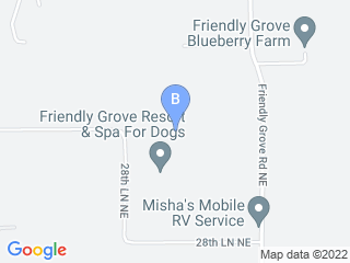 Map of Friendly Grove Dog Boarding options in Olympia | Boarding