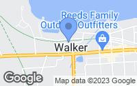 Map of Walker, MN