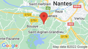 Carte de localisation du centre de contrôle technique BOUAYE