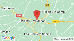 Carte de localisation du centre de contrôle technique VALDAHON