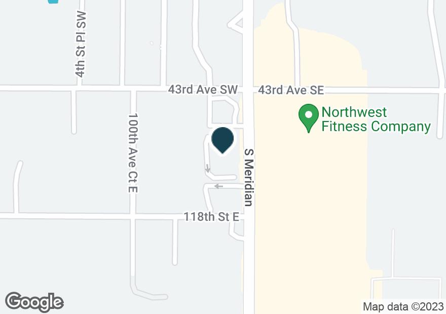 Google Map of4404 S MERIDIAN