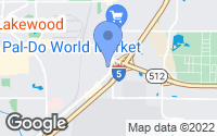 Map of Lakewood, WA
