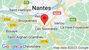 Carte de localisation du centre de contrôle technique REZE