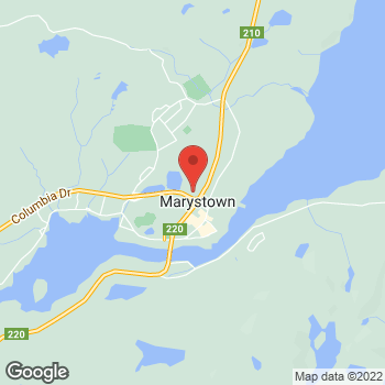 Map of Tim Hortons at 2-4 Columbia Dr, Marystown, NL A0E 2M0