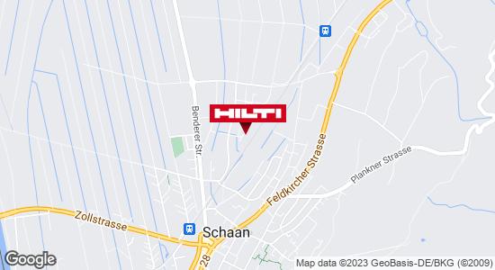 Wegbeschreibung zu Hilti Store Schaan