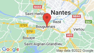 Carte de localisation du centre de contrôle technique BOUGUENAIS