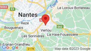 Carte de localisation du centre de contrôle technique VERTOU