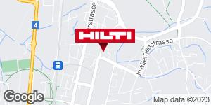 Wegbeschreibung zu Hilti Store Zug