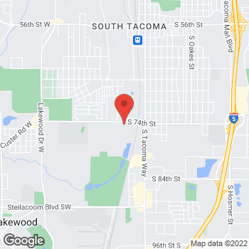 Map of James R Javier, DDS at 3866 S 74th Street, Tacoma, WA 98409