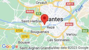 Carte de localisation du centre de contrôle technique NANTES