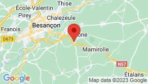 Carte de localisation du centre de contrôle technique SAONE