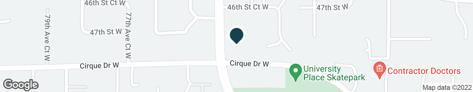 Google Map of7451 CIRQUE DR W