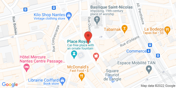 Carte de DEVERNOIS NANTES ROYALE
