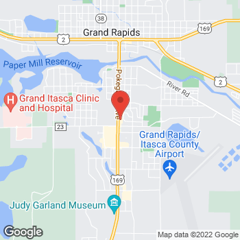 Map of Taco John's at 910 S Pokegama Avenue, Grand Rapids, MN 55744