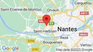 Carte de localisation du centre de contrôle technique SAINT HERBLAIN