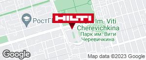 Get directions to Региональный представитель Hilti в г. Ростов-на-Дону