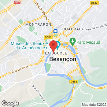 Map of Foot Locker Besancon at 6B Rue Pasteur, Local B23-B25, Besancon,  25000
