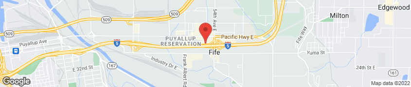 Map of 5110 Pacific Hwy E in Fife
