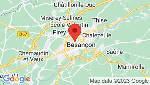 Carte de localisation du centre de contrôle technique BESANCON