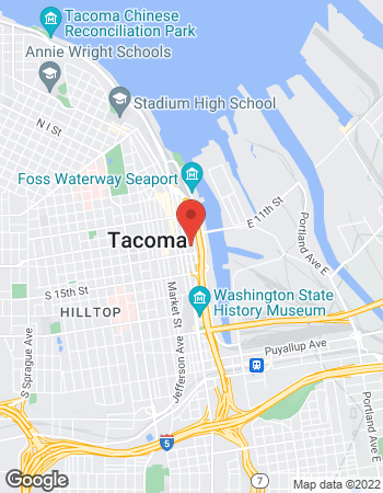 Map of TIAA Financial Services at 1201 Pacific Avenue, Tacoma, WA 98402